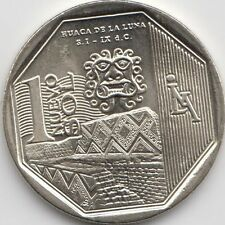 "Peru 1 Nuevo Sol 2014 ""Wealth and Pride of Peru"" Huaca de la Luna Uncirculated"
