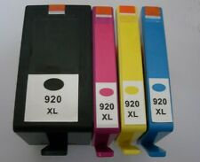 Set of 4 No 920XL Inkjet Cartridges Non-OEM With Printer HP Officejet 6500