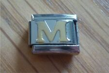 Italian Charms Charm - Gold Letters   Letter M