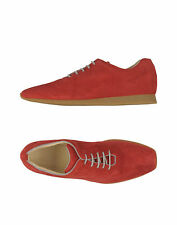 AUTHENTIC  'S  MAX MARA  sz  7 red suede trainers suede sneakers lace up shoes