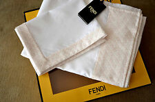 New Authentic FENDI Infant Baby Girl Pink & White 'Roma' Bedding Set w/Gift Box