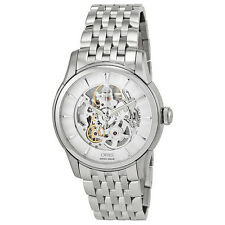Oris Artelier Skeleton Dial Stainless Steel Mens Watch 01 734 7670 4051-07 8 21