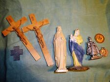 (577) LOT of Catholic Religious Items Statues Crucifix Jesus Virgin Mary Pope