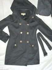 Michael Kors $129 size M medium black jacket hooded trench light womens coat