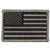 "Condor - American Flag Patch - 2"" x 3""inch Black & Gray  - Velcro Back"