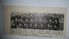 Maryland University Terrapins College Park 1921 Football Team Picture