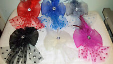 Joblot 12 pcs Feather & Sinamay Hair Fascinator on Hairclip NEW wholesale Lot U
