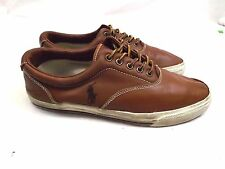 Polo Ralph Lauren Vaughn Men's Shoes, Size 10.5 D Loafers Sneakers Brown Leather
