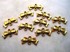 Antique Gold Bow Connector Charms (10) - P082 Jewelry Finding