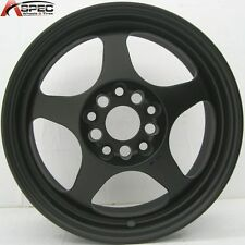 1 ROTA SLIPSTREAM 16X7 5x114.3 +40 FLAT BLACK RIM WHEEL
