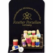 Reutter Porzellan Nähset / Sewing Set Puppenstube Dollhouse 1:12 Art 1.939/0