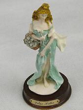 Lilac Seller Leonardo Hand Painted Bisque Figurine Beautiful Maiden Sell Flowers
