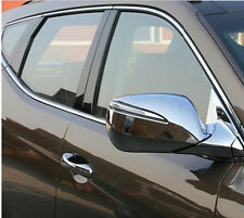 Chrome Rearview Side Door Mirrors Cover Trim For Hyundai Santa Fe IX45 2013 2014