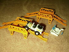 Vintage Remco Mighty Mike Jeep w/2 Bridges + Tow, Motorized, 1967