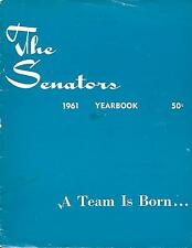 1961 Washington Senators Yearbook First Season for New Senators!!