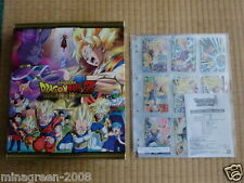 Lottery Prize JAPAN DRAGONBALL HEROES Card Binder Battle of Gods ver. & Card 9P