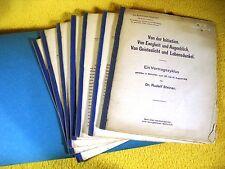 Rudolf Steiner - altes Manuskript nur für Mitglieder 1912 Anthroposophie 7 Teile