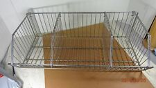 Chrome Wire Basket with Dividers  HEAVY DUTY STEEL WIRE INDUSTRIAL BASKET