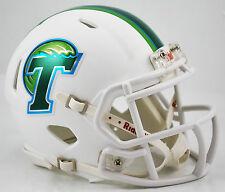 Tulane Green Wave WHITE Riddell NCAA Football Revolution SPEED Mini Helmet