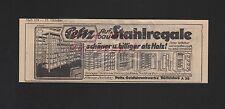 DÜSSELDORF, Werbung 1929, Peltz Geldschrank-Werke Aufbau-Stahlregale
