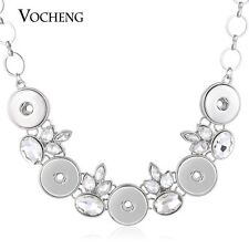 Vocheng Interchangeable Snap Jewelry 18mm Crystal Statement Necklace NN-505