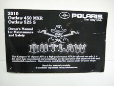 POLARIS 2010 OUTLAW OWNER'S MANUAL FOR MAINTENANCE AND SAFETY 9922479 SALE