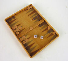 Dollhouse Artisan Miniature Backgammon Game