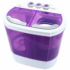 8-9lbs  Mini Portable Washing Machine Compact Washer Spin Dryer RV Dorm Laundry