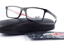 New Ray Ban RB 8901 2000 Shiny Black Carbon Fiber Eyeglasses W/Case Authentic