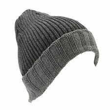 Croft & Barrow Men's Charcoal Grey Knit Winter Hat Beanie NEW $20