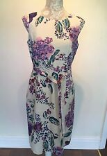 Beautiful Ladies Silk Linen Blend Special Occasion Dress by Monsoon Size 12/14