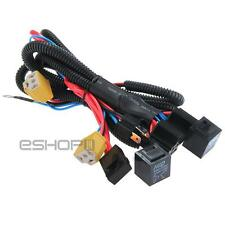 H4/9003 Headlight Booster Connector Wire Harness Relay Fuse Socket Black New