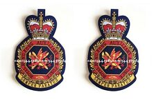 woven badge (2pcs)Royal Hong Kong Auxiliary Air Force Dept color woven badge