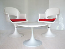 70er LOUNGE SET Paar / pair TULIP Stuhl chair + TULIP Marmor Tisch table 1970's