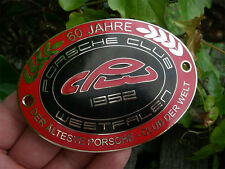 PORSCHE CLUB WESTFALEN - 60 Jahre Jubiläums Auto Plakette Car Badge grille