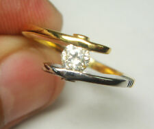 BLACK FRIDAY SALE !!!! 0.34ctDIAMOND SOLITAIRE 14k WHITE & GOLD RING