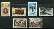 Spanish Andorra 1976 Complete Year Set NH Scott 92-93 94-95 96-97