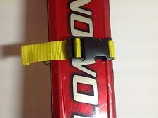 Yellow Ski Tie Strap Quick Release Buckle 25mm Webbing