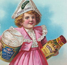 Heinz Pickle Jar Commissary Baked Beans Tin Victorian Advertising Trade Card