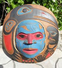 Northwest Coast Canada First Nation Native RAVEN MOON MASK Aboriginal Indigenous