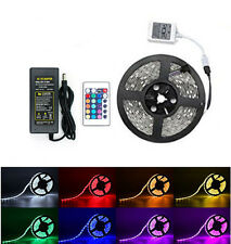 5M RGB 5050 Waterproof LED Strip light 300 SMD 24 Key Remote 12V 5A Power