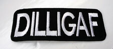 P1 Funny Humour DILLIGAF Patch Biker Motorbike Triker Motorcycle