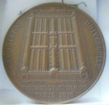 MEDAILLE EXPOSITION UNIVERSELLE 1878  signé LAGRANGE ( PALAIS DU CHAMP DE MARS )