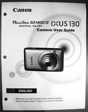Canon Powershot SD1400 IS IXUS 130  Digital Camera User Guide Manual