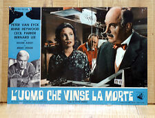 L'UOMO CHE VINSE LA MORTE poster fotobusta Peter Van Eyck Anne Heywood The Brain