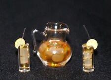 ICED TEA SET Dollhouse Miniature Food  Drinks1:12 Scale Kitchen Beverages