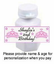 30 Princess Crown Tiara Birthday Party Or Baby Shower Mini Bubble Stickers Pink