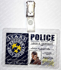 Resident Evil ID Badge Leon S. Kennedy STARS Police Cosplay Prop Halloween