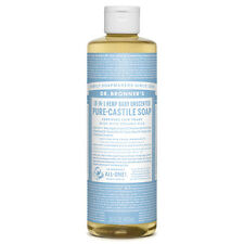 Dr. Bronner's 18-In-1 Pure Castile Liquid Soap Baby Unscented 16 oz