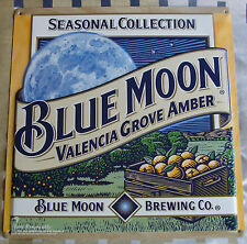 BLUE MOON SEASONAL COLLECTION VALENCIA GROVE AMBER EMBOSSED METAL SIGN NEW